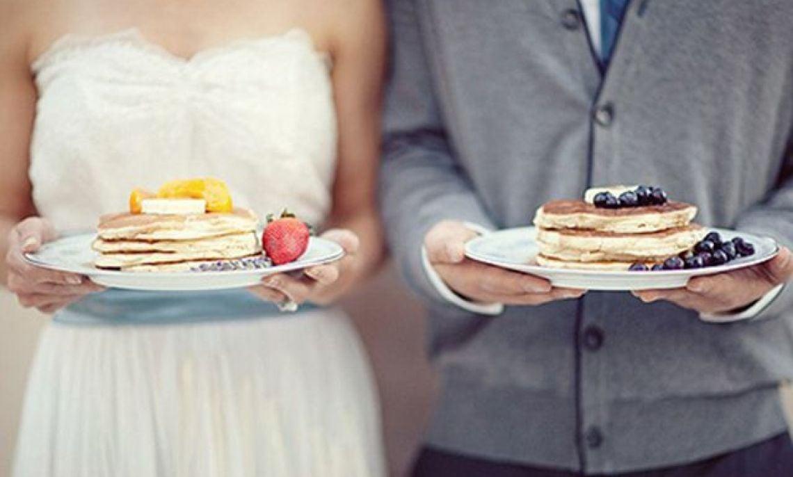 Waffle pancake wedding