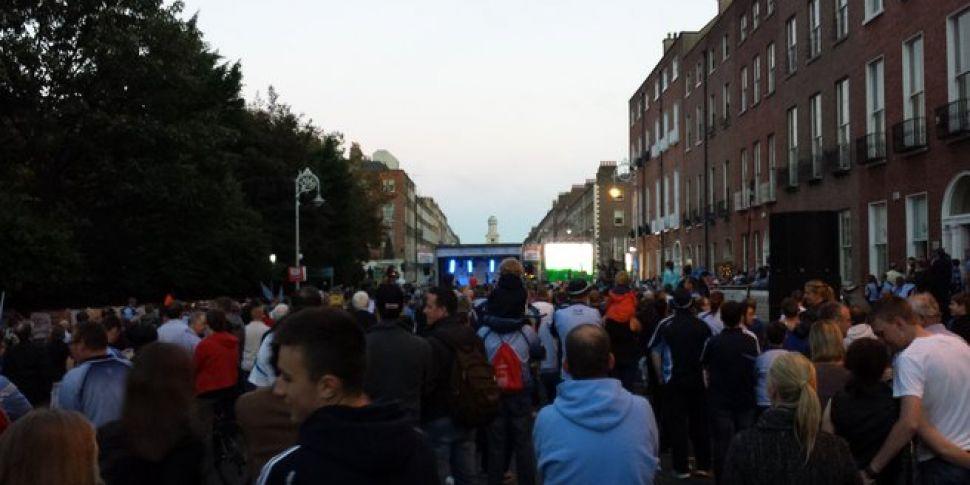 Thousands Greet Dublin Footbal...