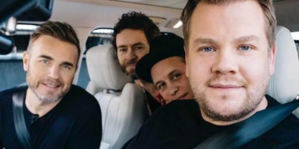 Take That To Join James Corden...