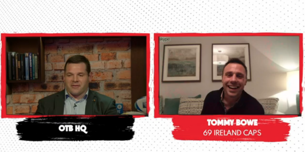 Tommy Bowe and Mike Ross share...