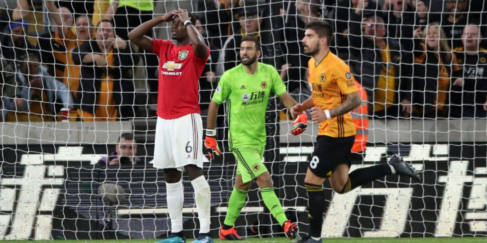 Pogba penalty miss as Wolves h...