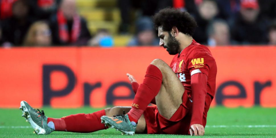 Mo Salah pictured in protectiv...