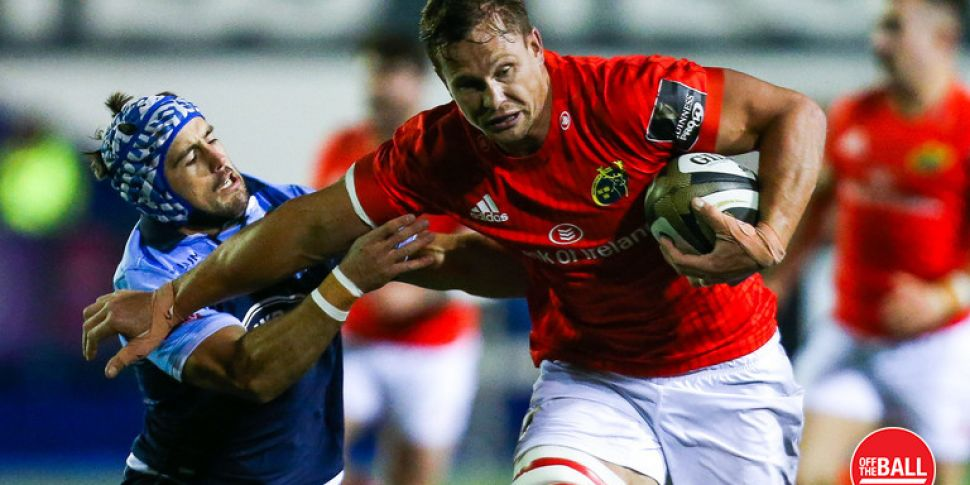 Munster's Arno Botha handed th...