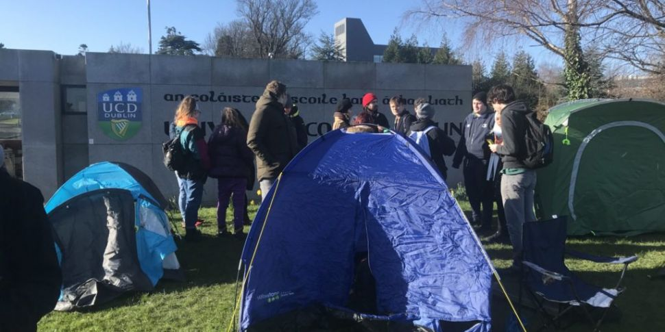 UCD Students Pitch Tents At Ca...