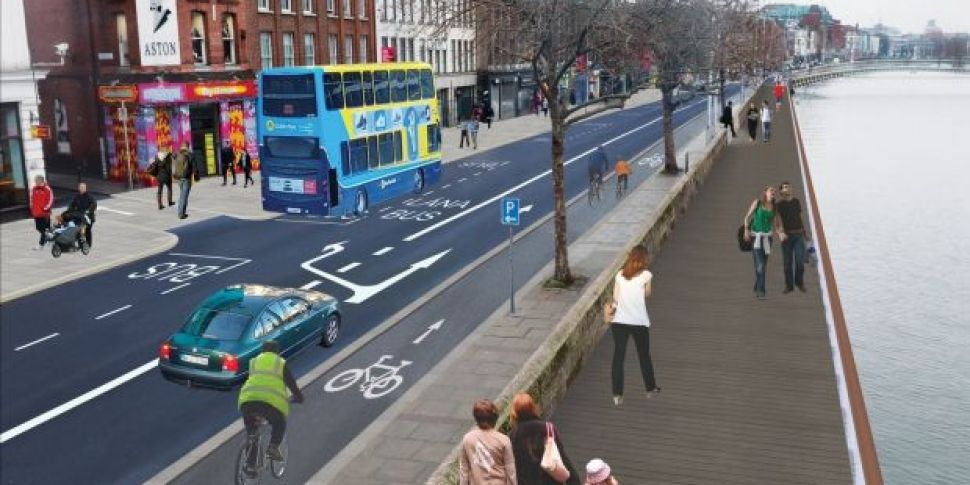 Trial Liffey Cycle Route Shoul...