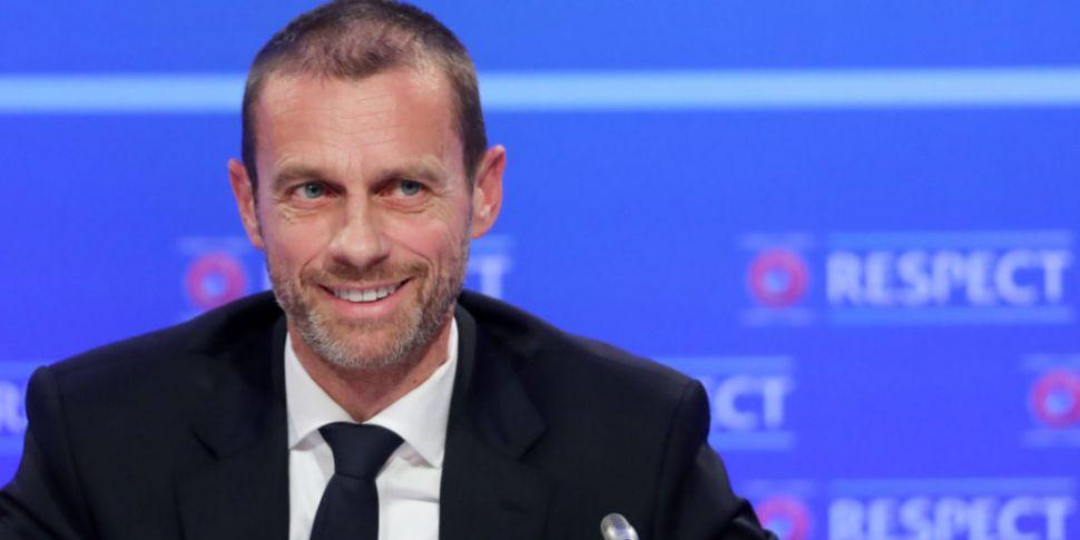 UEFA President Ceferin admits...