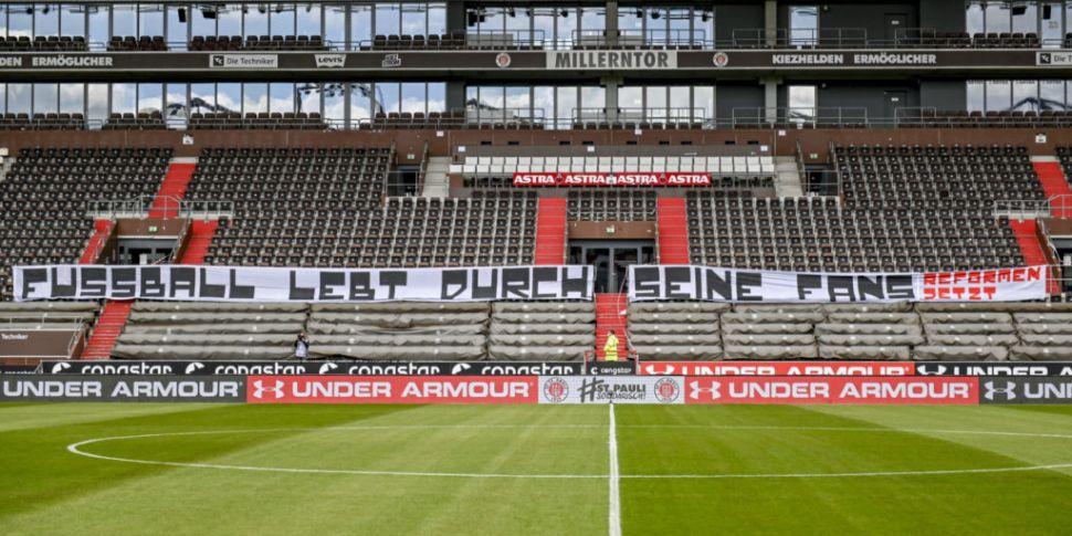 German football fans express a...