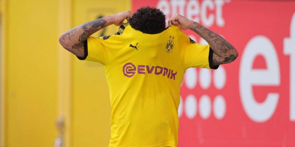 Dortmund duo Jadon Sancho and...