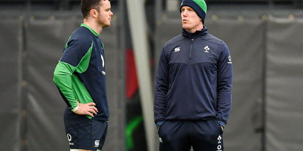 New Ireland captain James Ryan...