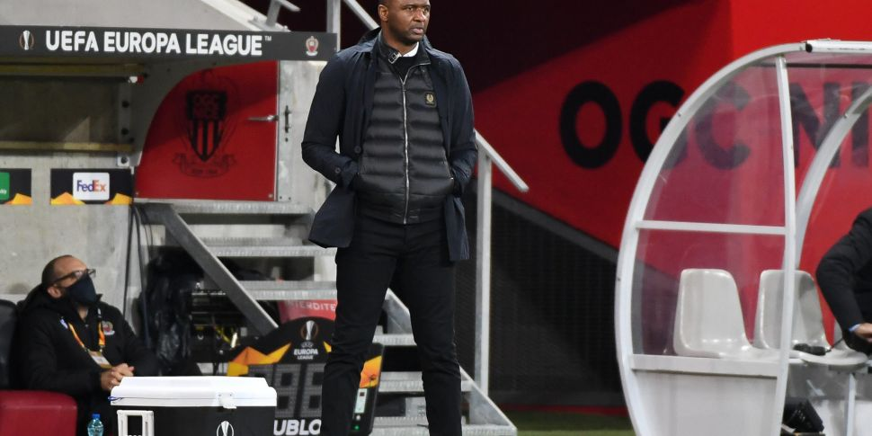 Patrick Vieira sacked as Nice...