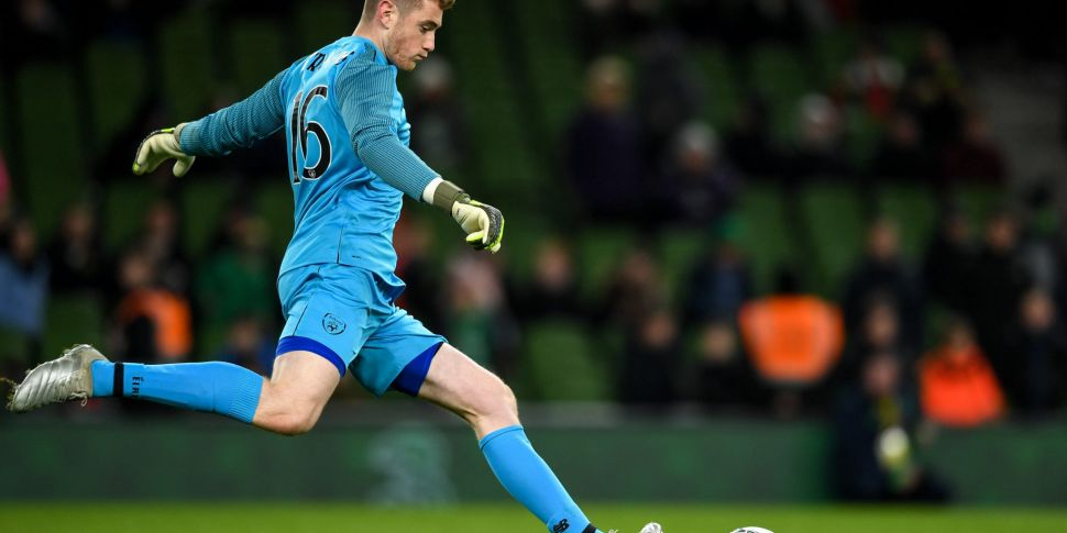 Ireland goalkeeper Mark Traver...