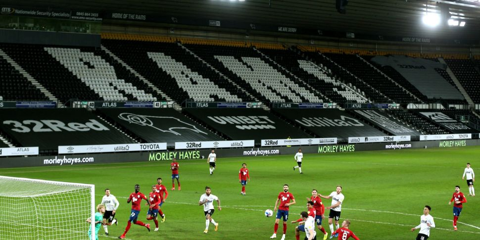 Derby County's players to stop...