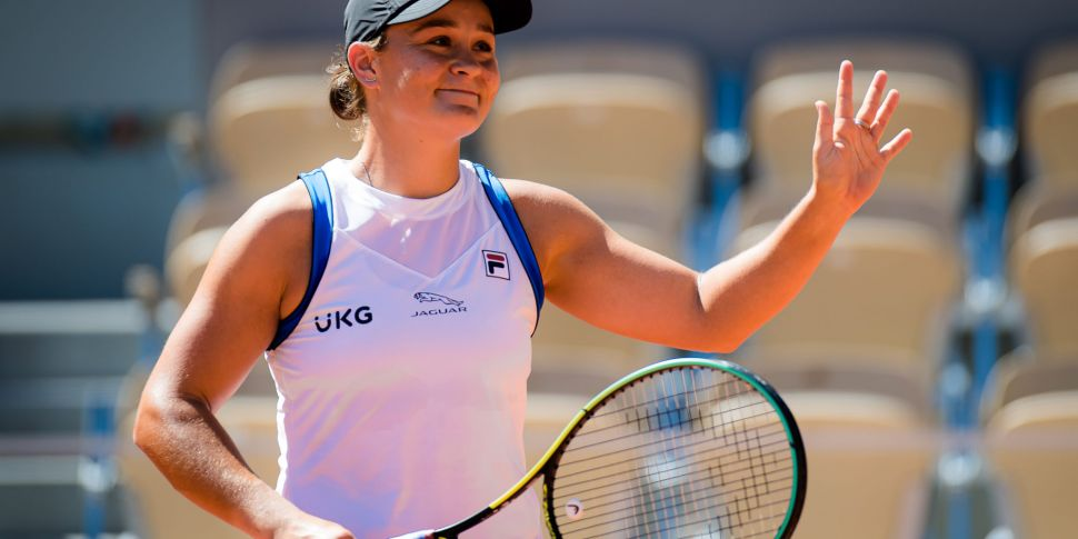 Barty forced to retire with a...
