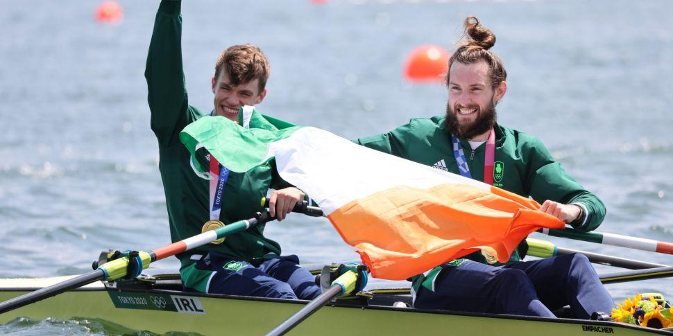 Irish Rowers Fintan McCarthy a...
