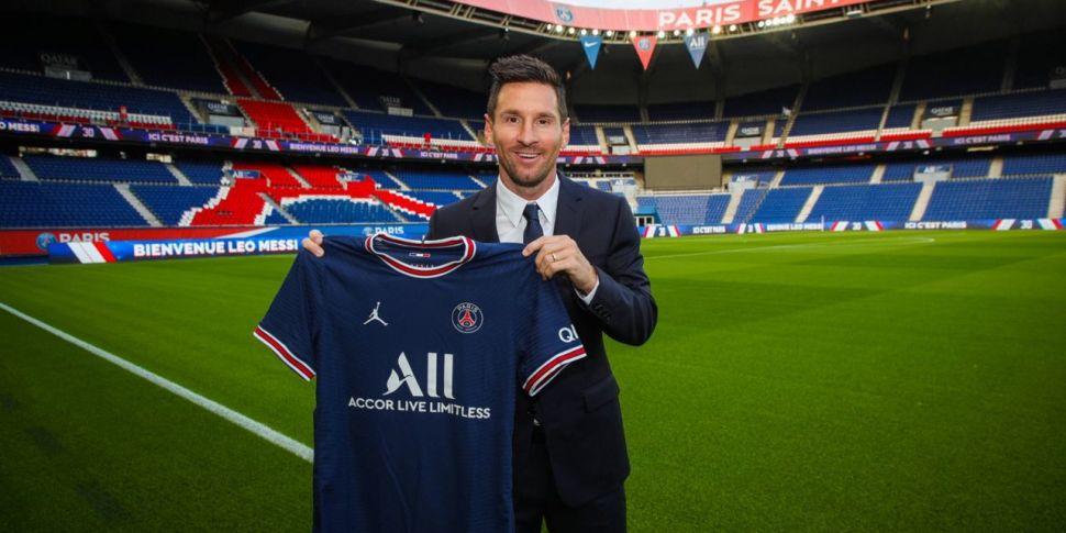 C'est fait! Lionel Messi is of...
