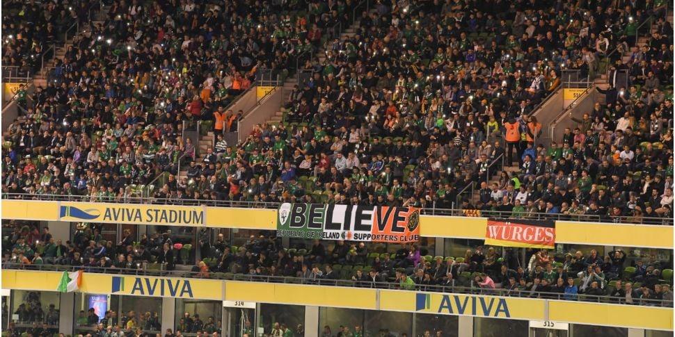 No Republic of Ireland fans al...