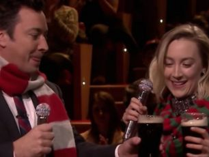 Saoirse Ronan Performs Fairytale Of New York With Jimmy Fallon