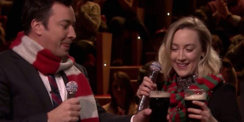 Saoirse Ronan Performs Fairytale Of New York With Jimmy Fallon