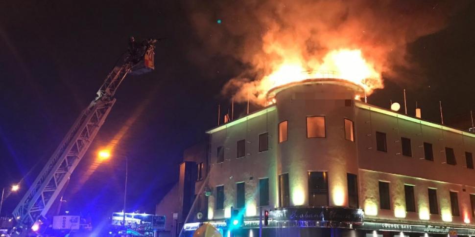 huge fire in east wall overnight www