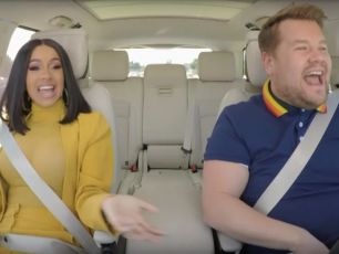 Cardi B Crashes A Car In Carpool Karaoke With James Cordon
