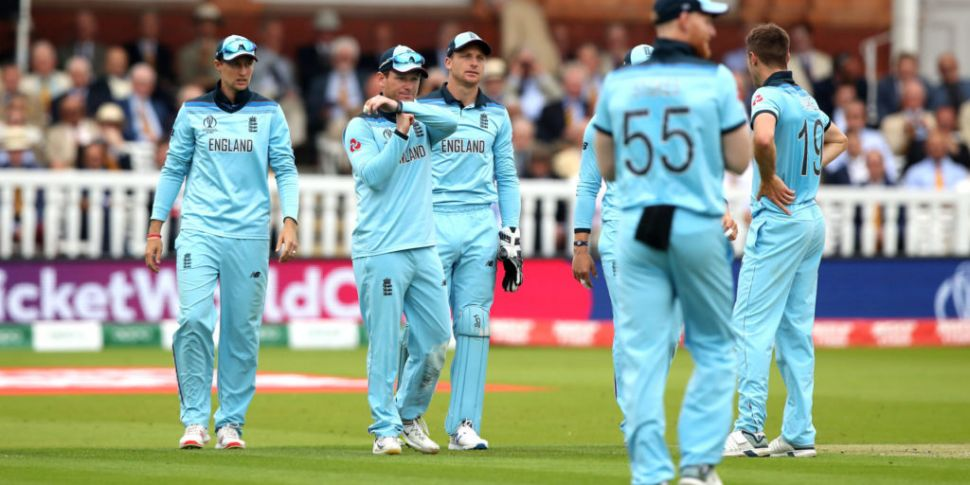 England cricketers go down to...