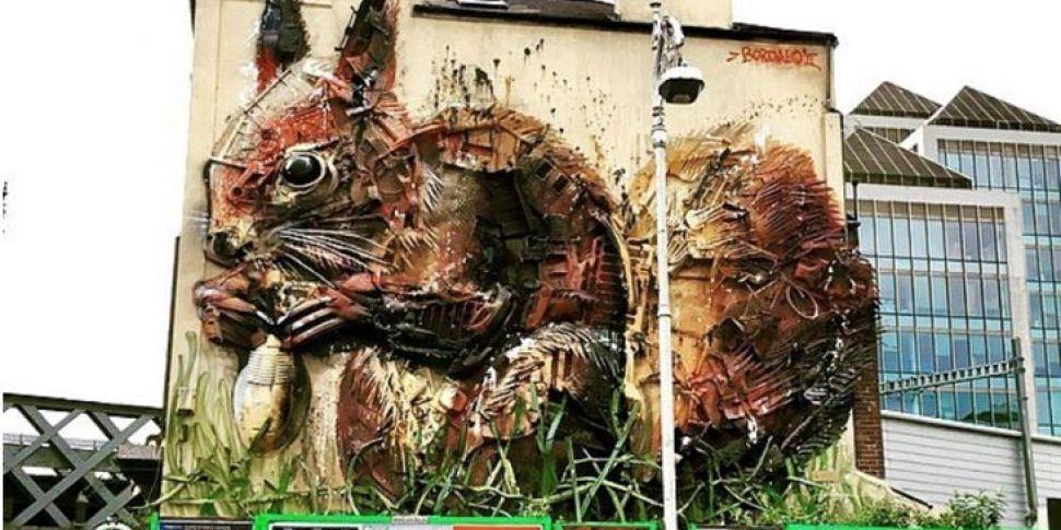 Dublin's Scrap Metal Squirrel...