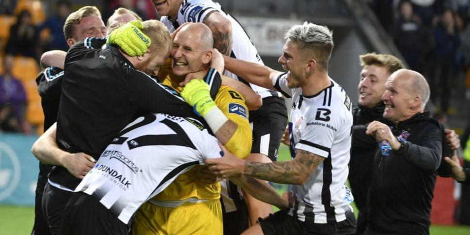 Dundalk beat Riga on penalties...