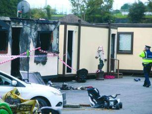 Carrickmines Halting Site Fire...