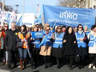 Nurses And Supporters Stage Ra...