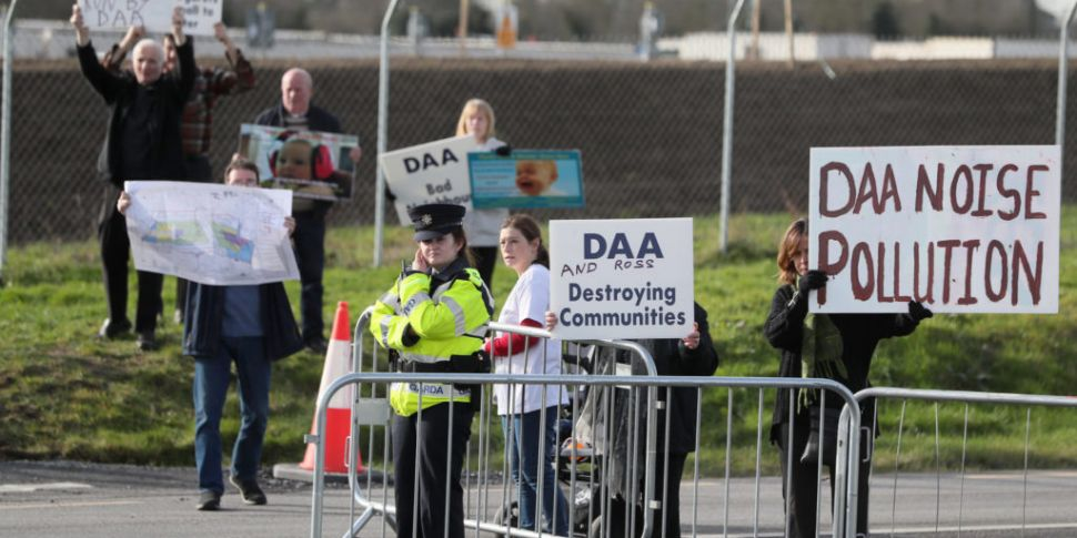 Protest Held At Dublin Airport...