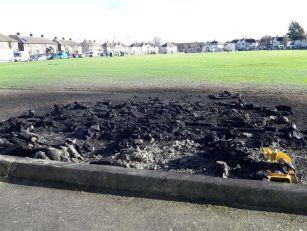 Drimnagh Football Pitch Damage...