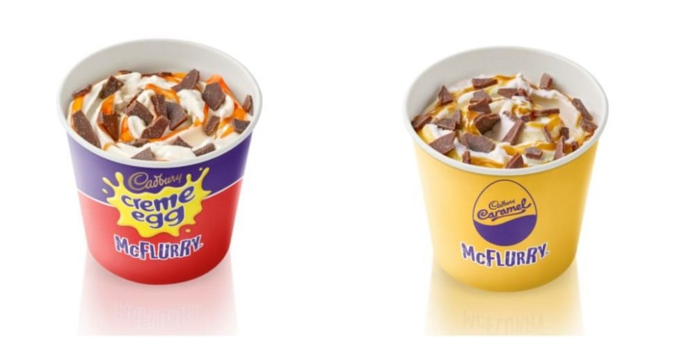 Confirmed: Creme Egg McFlurry...