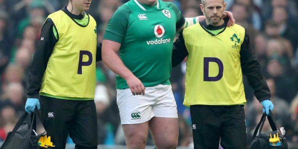 Tadhg Furlong forced off with...