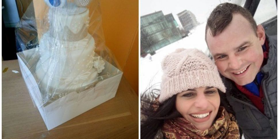 98FM Helps Couple Get Their Wedding Cake During Storm Emma