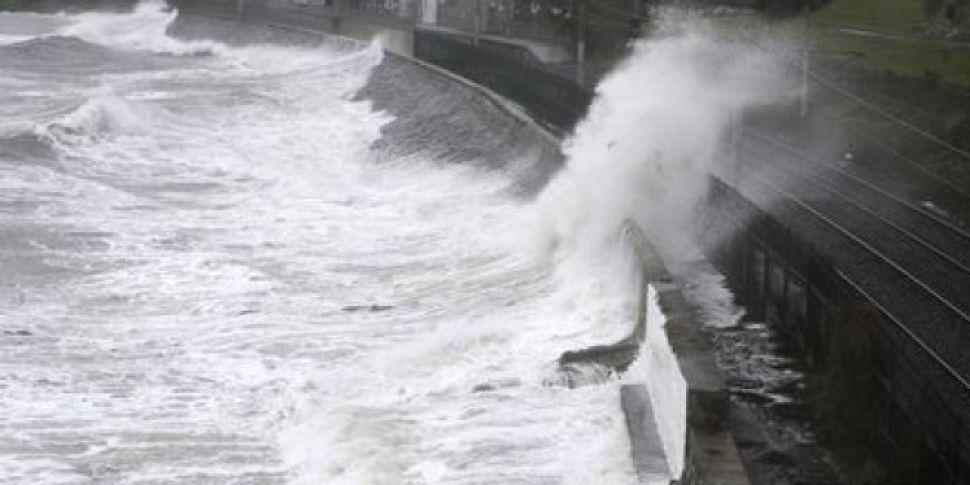 Storm Damage Closes East Pier In Dun Laoghaire