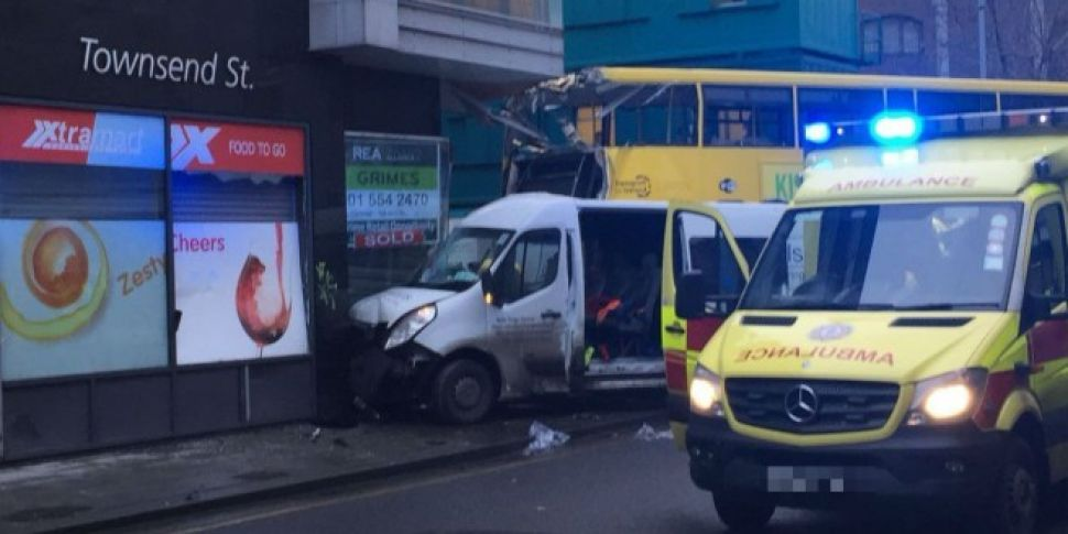 Major Damage Caused To Dublin Bus In City Centre Crash
