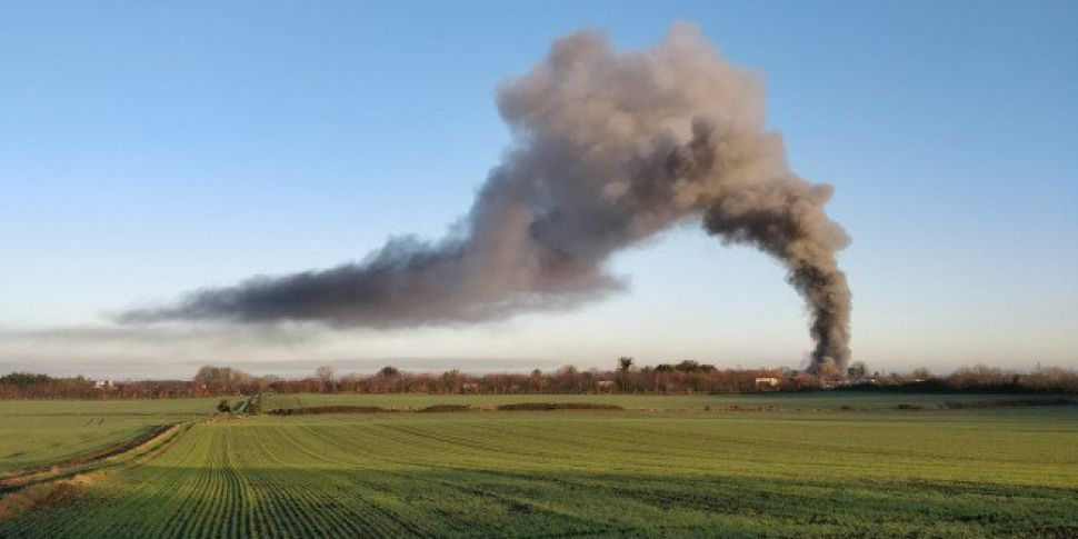 Crews Tackle Fire Near Dublin...