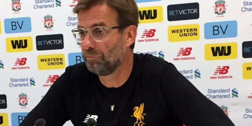 Jurgen Klopp wears Irish badge in support of Sean Cox