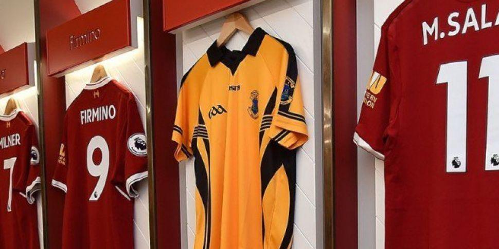 Liverpool Hangs GAA Jersey In Dressing Room In Support Of Sean Cox