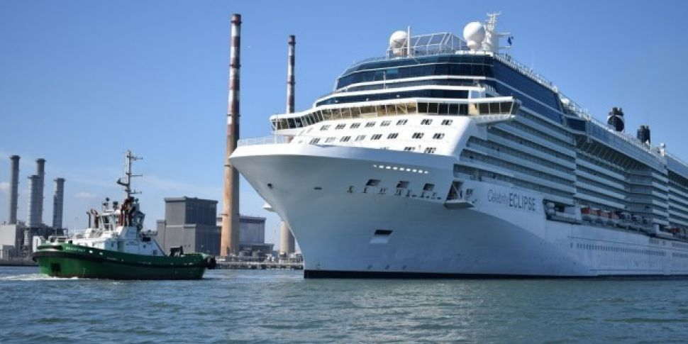 Cruise Liner Sails Into Dublin