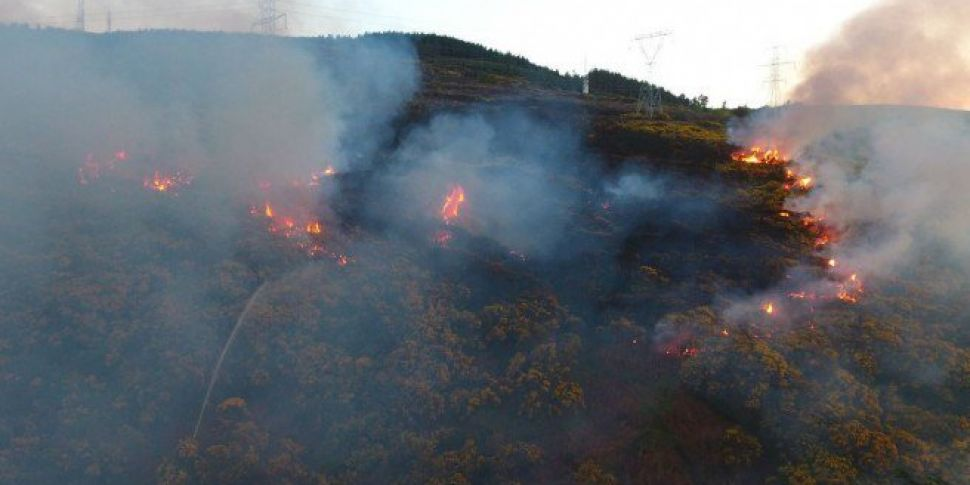 Gorse Fires Dealt With In The Dublin Mountains