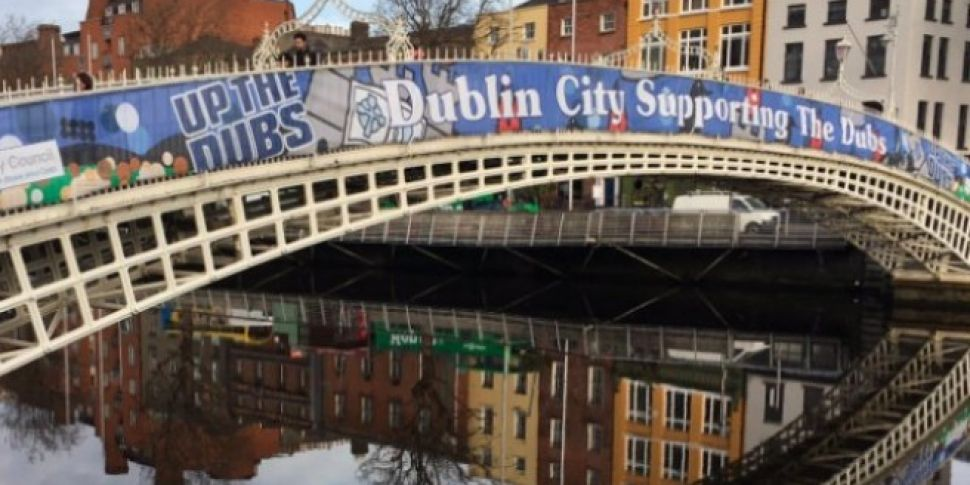 Up The Dubs Banner Is A Bridge...