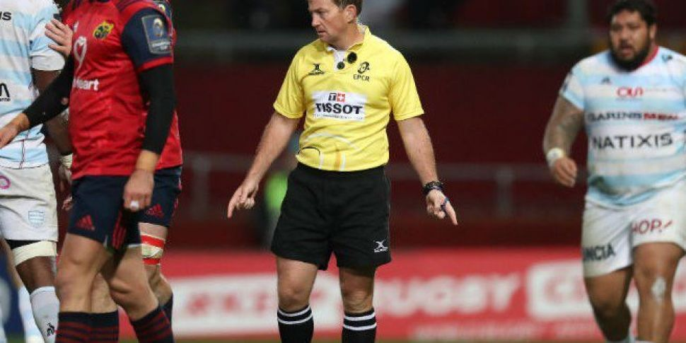 Dublin referee to take charge of Munster Euro semi-final