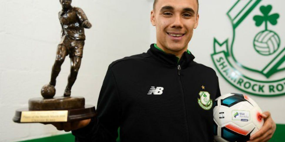 Shamrock Rovers striker Graham Burke wins player of the month gong