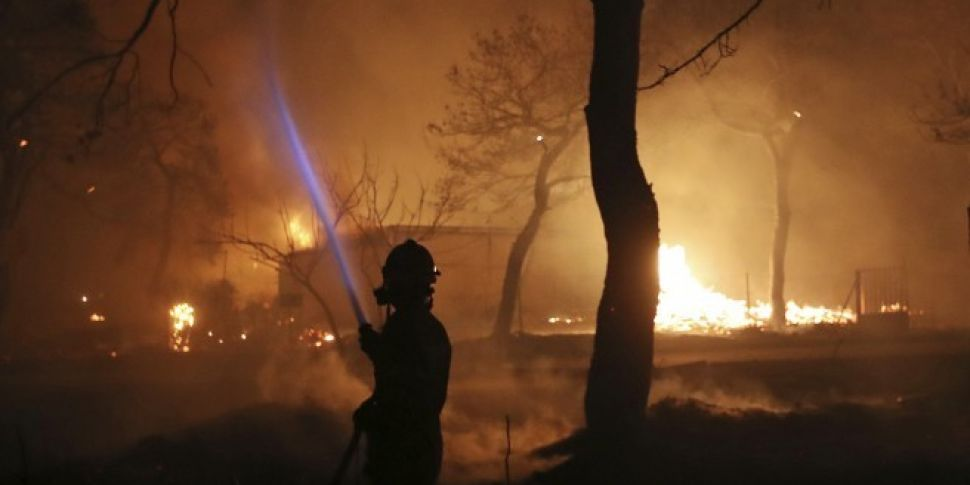 Wildfires In Greece Leave At L...