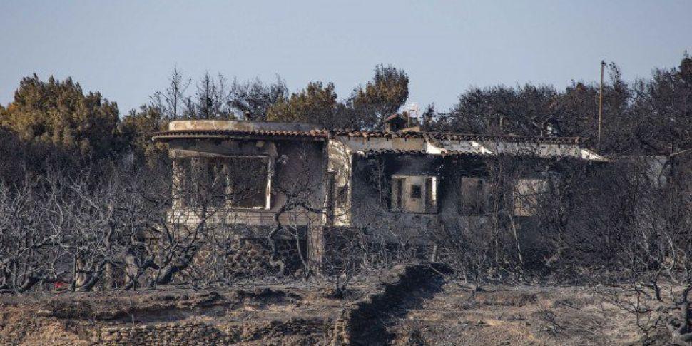 Greek Wildfire Death Toll Pass...