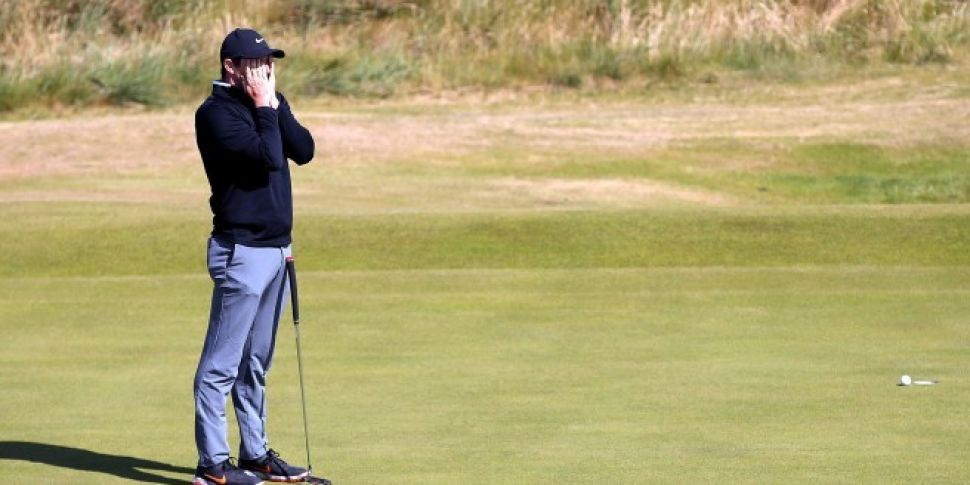 Rory McIlroy on his second rou...