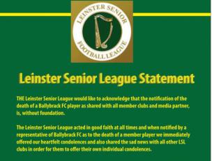 Praise be: Leinster Senior Lea...
