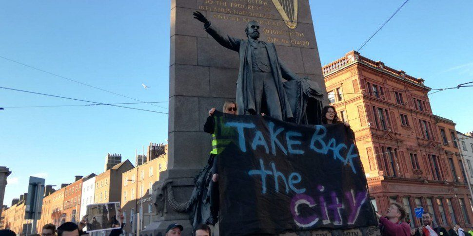 Crowds Gather For Housing Prot...