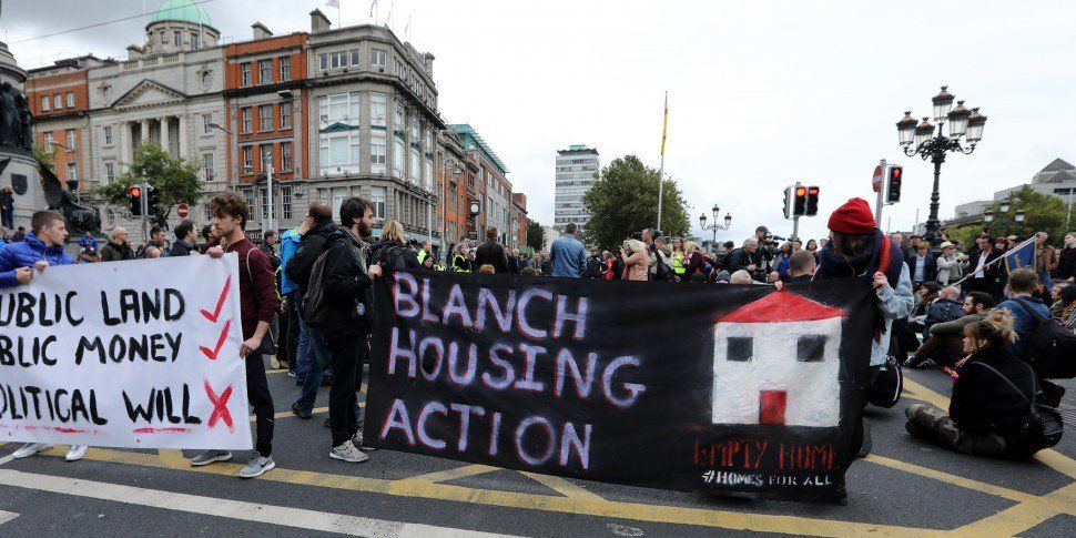 Hundreds Gather For Housing Protest In City Centre